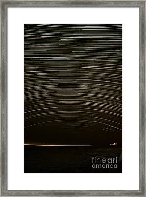 Assateague Star Trails Framed Print by Benjamin Reed