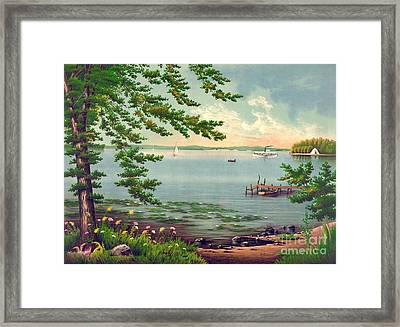 Assawompset Pond 1875 Framed Print by Padre Art