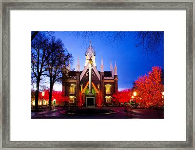 Assembly Hall Slc Temple Framed Print by La Rae  Roberts