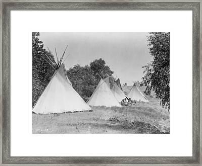 Assiniboin Camp, C1908 Framed Print by Granger