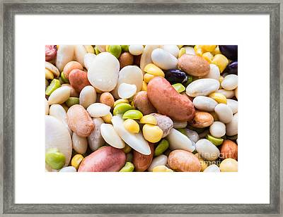 Assorted Beans For Soup Framed Print by Edward Fielding