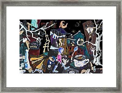Assurda Realta - Venice Art Collage - Economic Crisis Europe Italy Framed Print by Arte Venezia