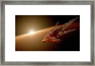 Asteroid Impact In Planet-forming Region Framed Print by Nasa/jpl-caltech