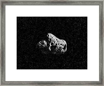 Asteroid Framed Print by Juan Gaertner