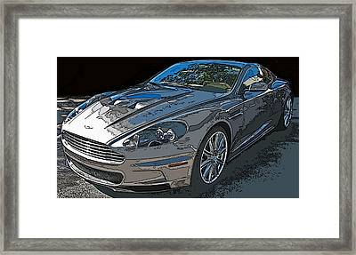 Aston Martin Db S Coupe 3/4 Front View Framed Print by Samuel Sheats
