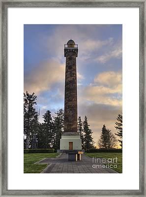 Astoria Column Framed Print by Mark Kiver