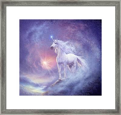 Astral Unicorn Framed Print by Steve Read