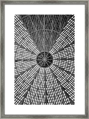 Astrodome Ceiling Framed Print by Benjamin Yeager