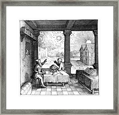 Astrologers Preparing A Horoscope Framed Print by Universal History Archive/uig