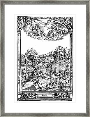 Astrology Framed Print by Universal History Archive/uig