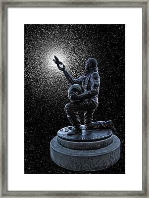 Astronaut Michael P. Anderson Tribute Framed Print by Daniel Hagerman