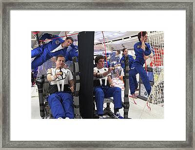 Astronauts Training In Free-fall Framed Print by Esa-c. Dekkers