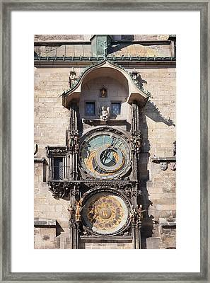 Astronomical Clock At The Old Town Framed Print by Panoramic Images