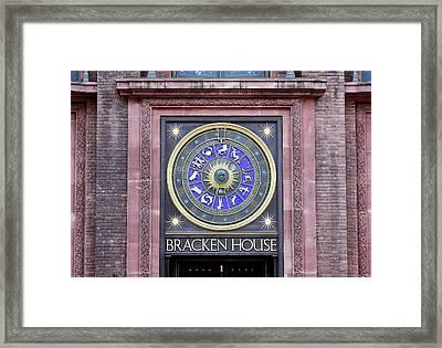 Astronomical Clock Framed Print by Martin Bond