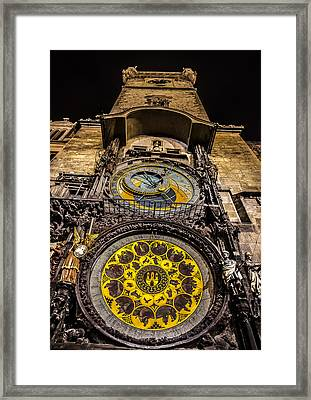 Astronomical Clock Framed Print by Matthew Gulosh