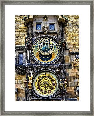 Astronomical Clock - Prague Framed Print by Jon Berghoff