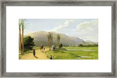 Asyut On The Nile, 1873 Oil On Canvas Framed Print by John Rogers Herbert