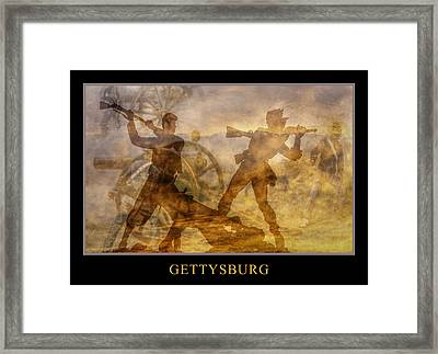 At A Place Called Gettysburg Poster Framed Print by Randy Steele