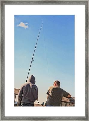 At Fishing Framed Print by Karol Livote