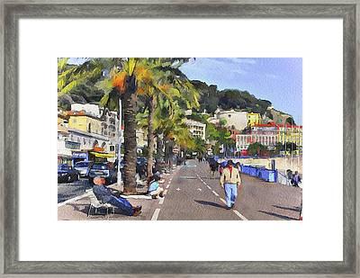 at Nice Framed Print by Yury Malkov