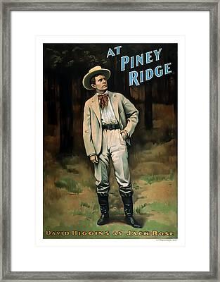 At Piney Ridge Framed Print by Terry Reynoldson