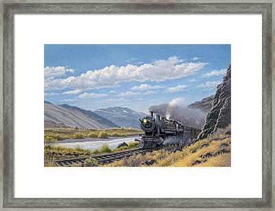 At Point Of Rocks- Bound For Livingston  Framed Print by Paul Krapf