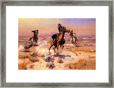At Ropes End Framed Print by Charles Russell