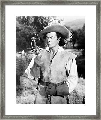 At Swords Point, Cornel Wilde, 1952 Framed Print by Everett
