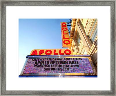 At The Apollo Framed Print by Ed Weidman