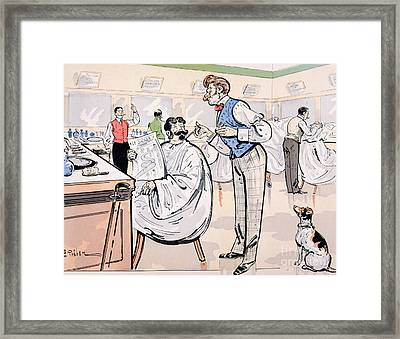 At The Barber And Reading Le Jockey Framed Print by Thelem