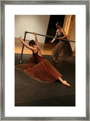 At The Barre Framed Print by Kate Purdy
