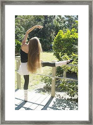 At The Barre Framed Print by N Taylor