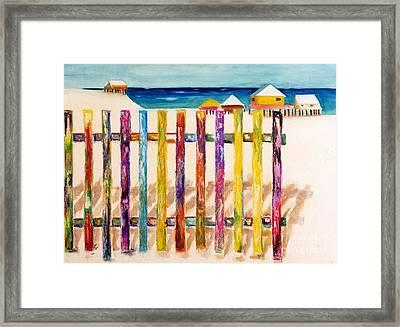 At The Beach Framed Print by Frances Marino