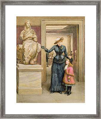 At The British Museum Framed Print by George Goodwin Kilburne
