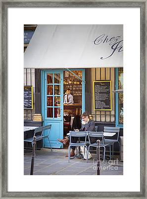 At The Cafe Framed Print by Brian Jannsen