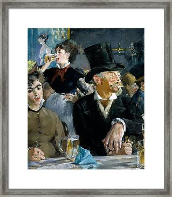 At The Cafe Concert Framed Print by Edouard Manet