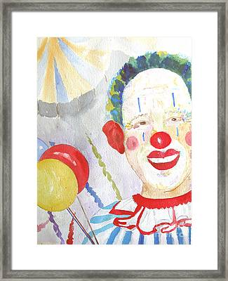 At The Circus Framed Print by Sandy McIntire