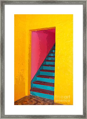 At The Colony Hotel Framed Print by Michelle Wiarda