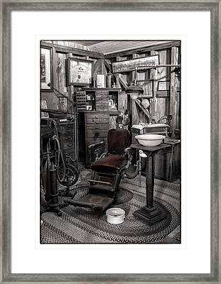 At The Dentist Framed Print by Marzena Grabczynska Lorenc
