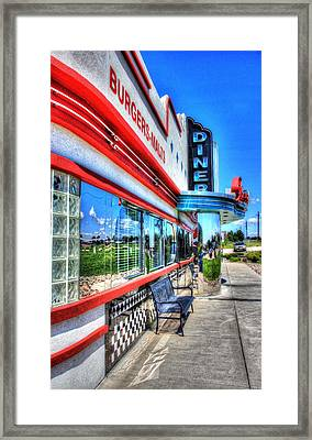 At The Diner 1 Framed Print by Diane Alexander