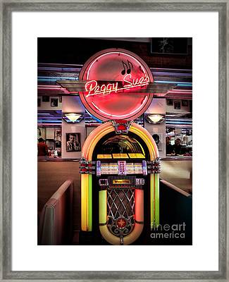 At The Diner Framed Print by Peggy Hughes