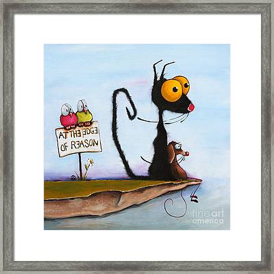 At The Edge Of Reason Framed Print by Lucia Stewart