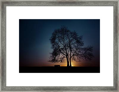 At The End Of The Day Framed Print by Chris Fletcher