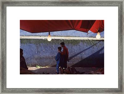 At The Fish Market Casablanca 1996 Framed Print by Rolf Ashby