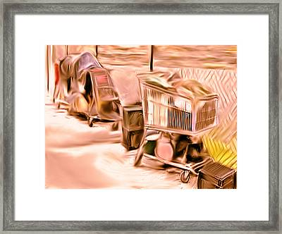 At The Food Pantry Framed Print by Dennis Buckman