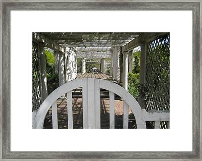 At The Garden Gate Framed Print by Melissa McCrann