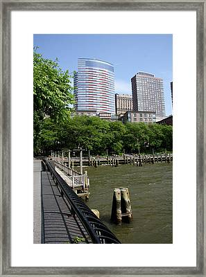 At The Hudson River Framed Print by Christiane Schulze Art And Photography
