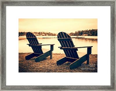 At The Lake Framed Print by Edward Fielding