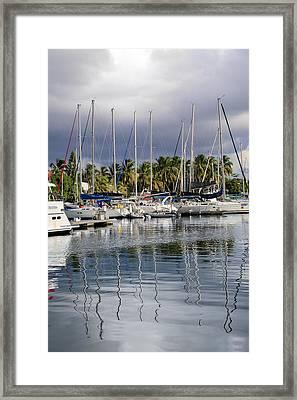 At The Marina Framed Print by    Michael Glenn