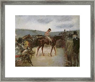 At The Races Framed Print by Jean Louis Forain